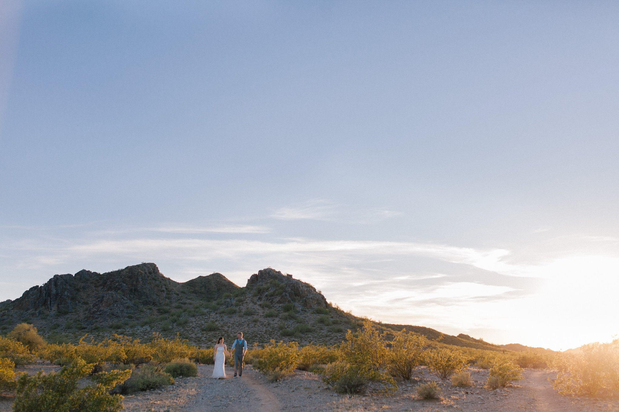 scenic mountain desert elopement in Phoenix