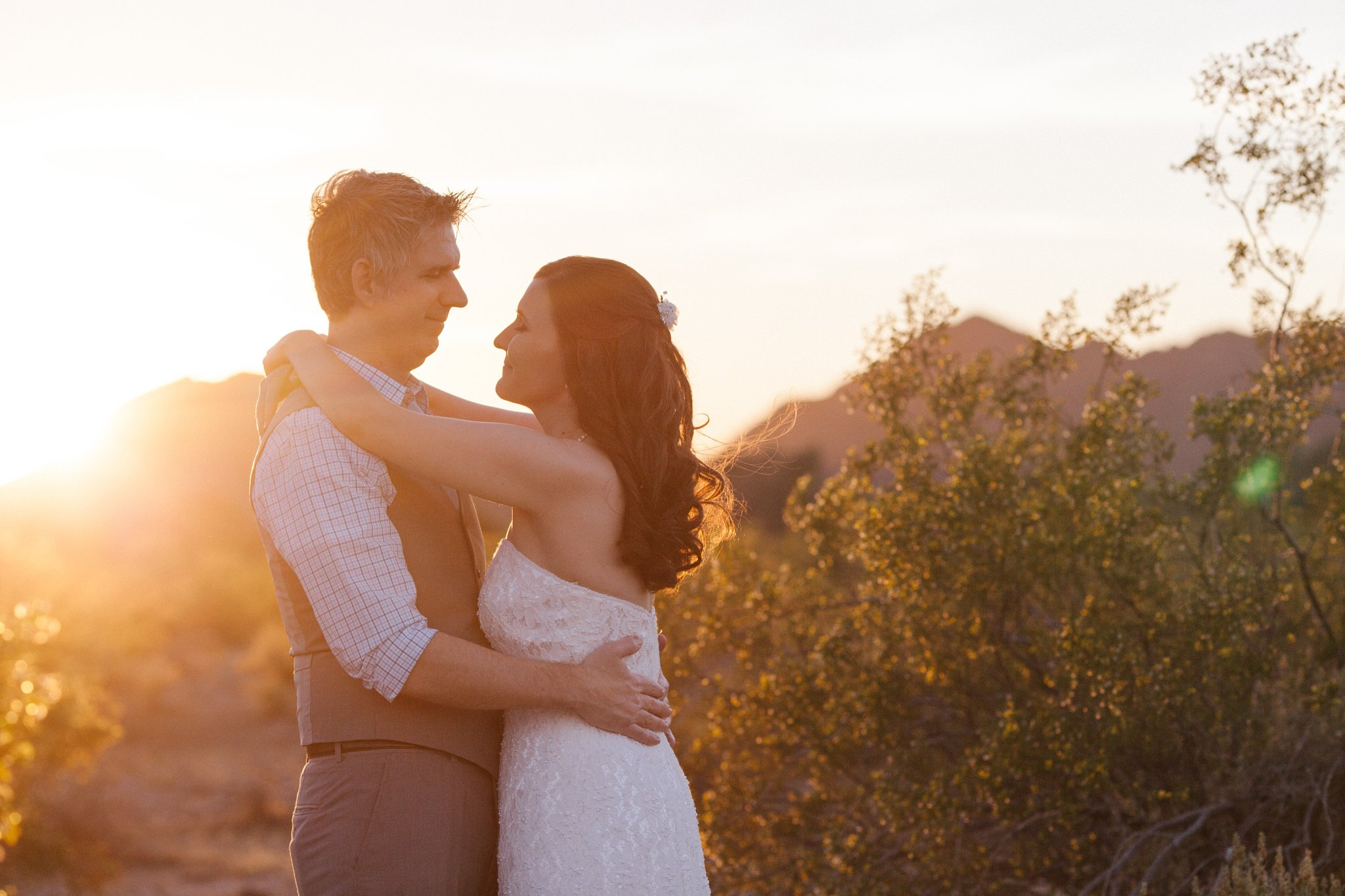 sunset desert mountain elopement in Phoenix