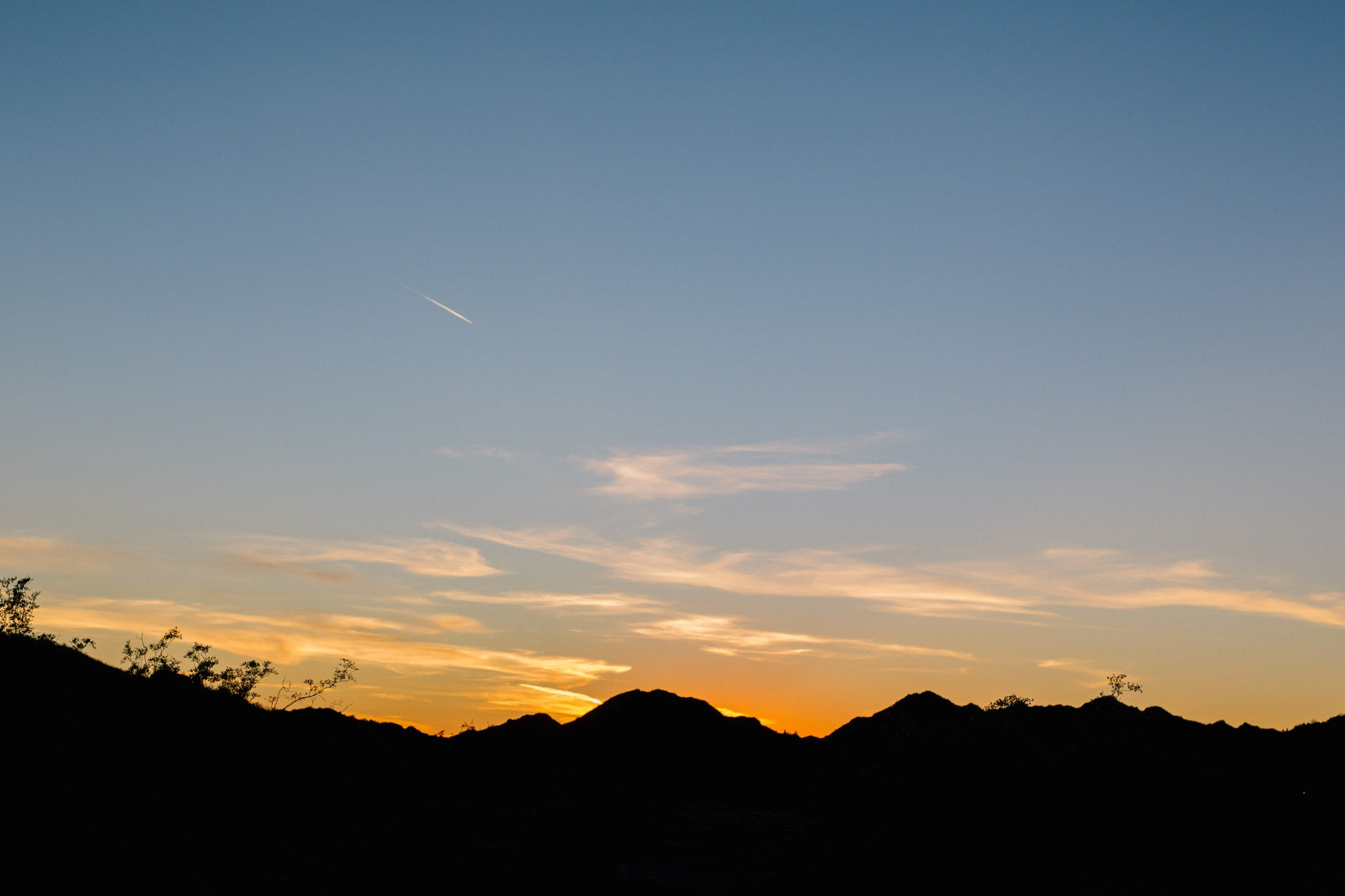 sunset at Phoenix Mountain Preserve