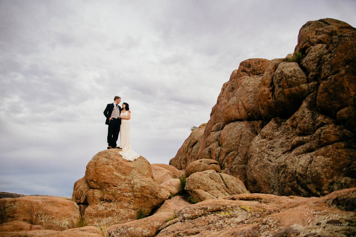 watson lake wedding day after portraits trash the dress