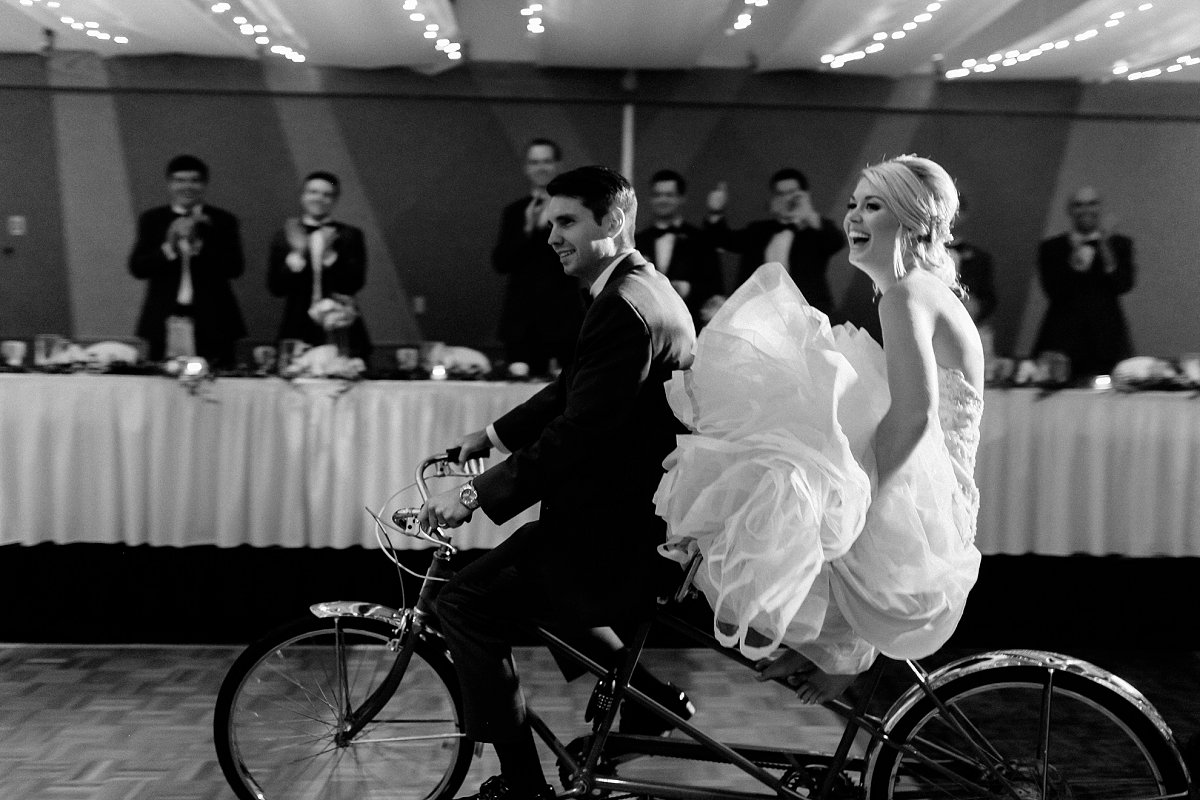 Bride And Groom S Grand Entrance: RiverCenter Wedding In Davenport, Iowa