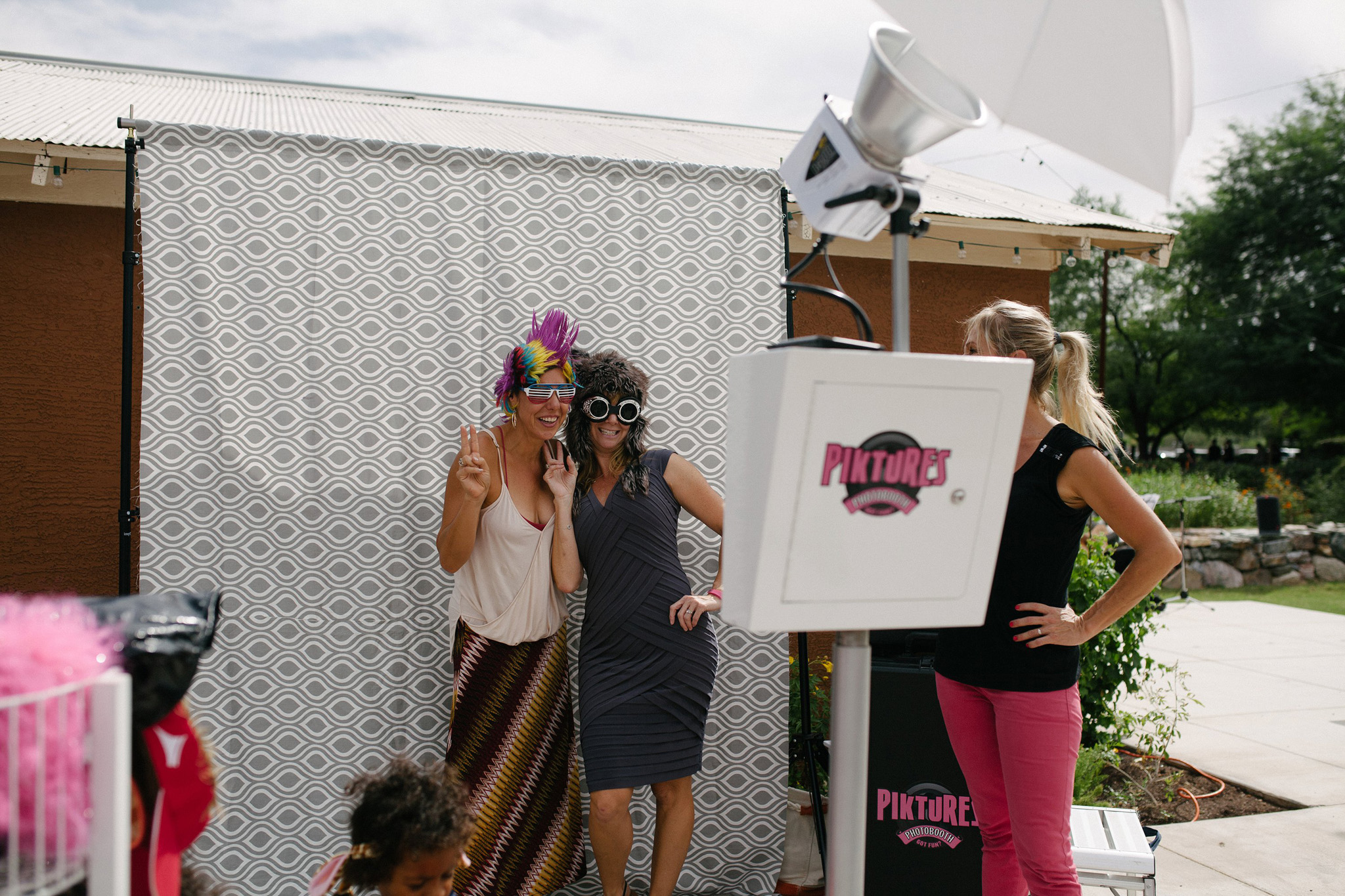 photo booth morning wedding at Farm at South Mountain