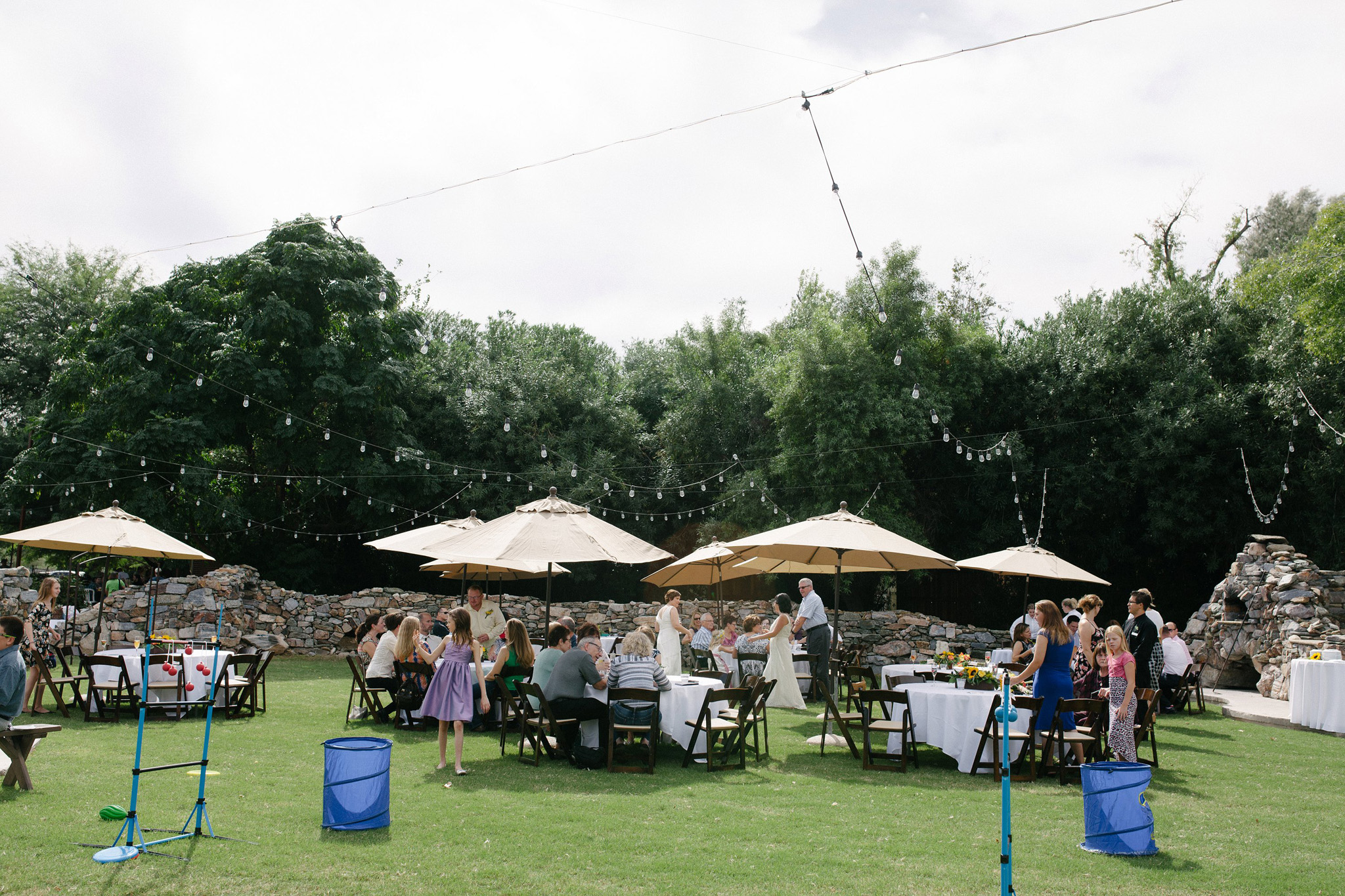 morning wedding reception at Farm at South Mountain