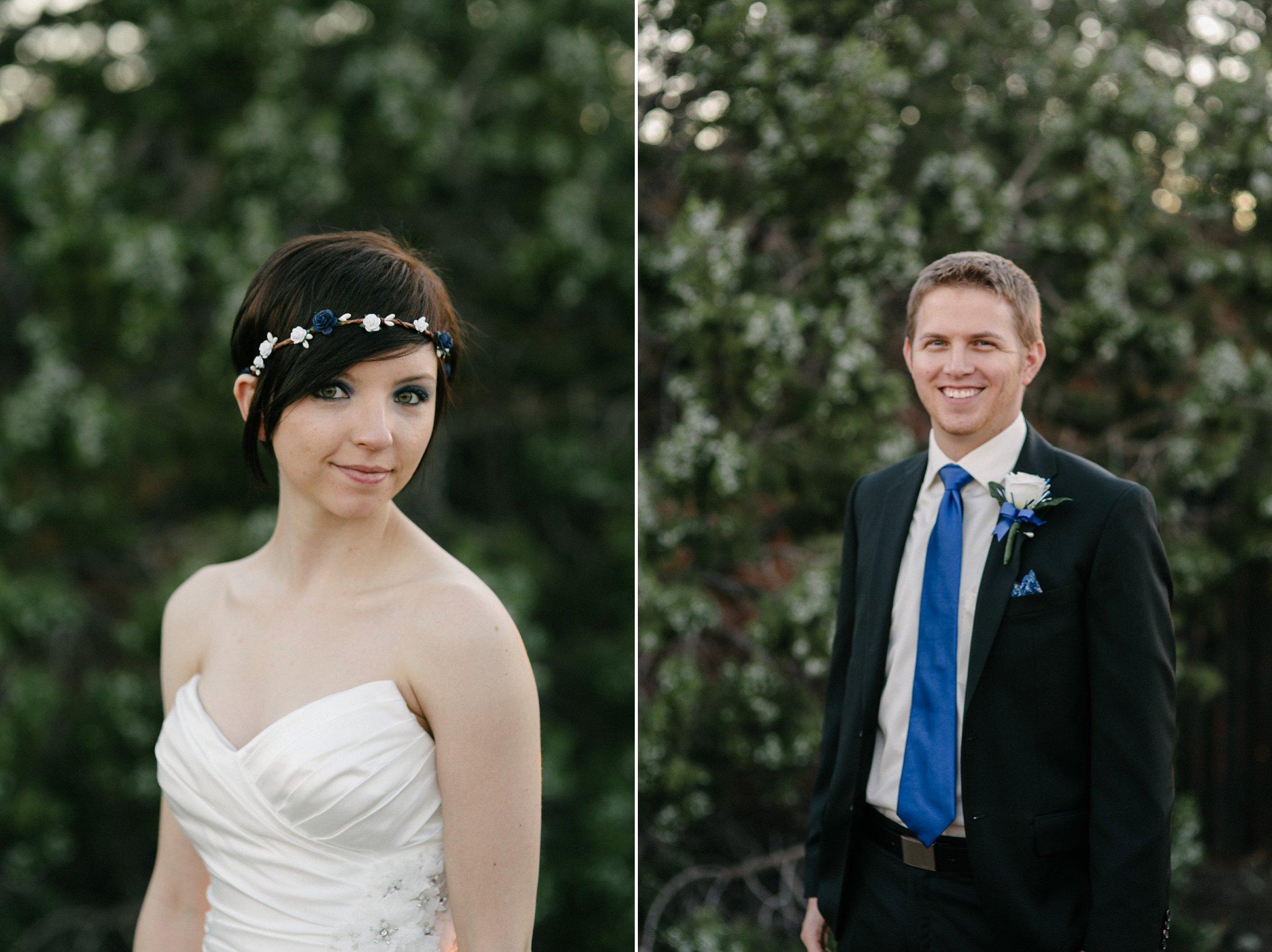 bride and groom eloping in Sedona