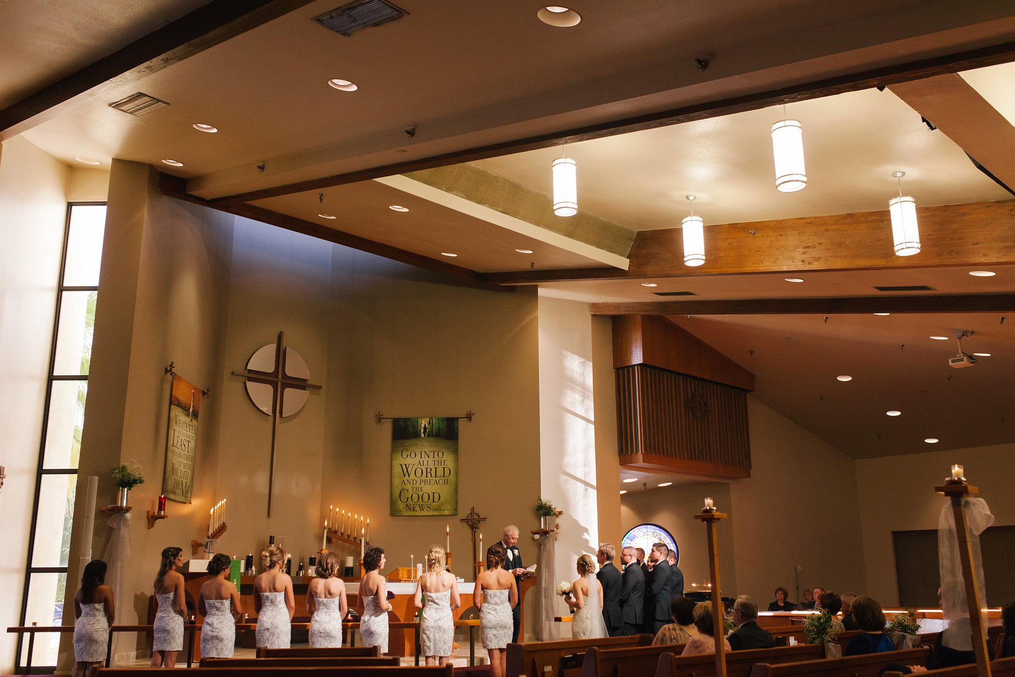 wedding ceremony at Christ's Greenfield church in Mesa