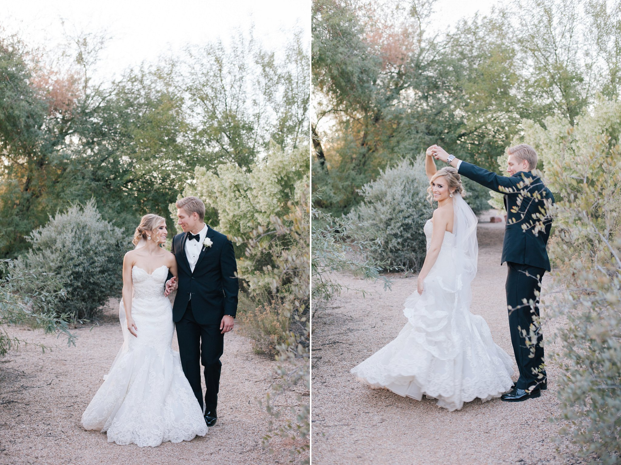 bride & groom at Gilbert Riparian preserve Mesa desert wedding photographer