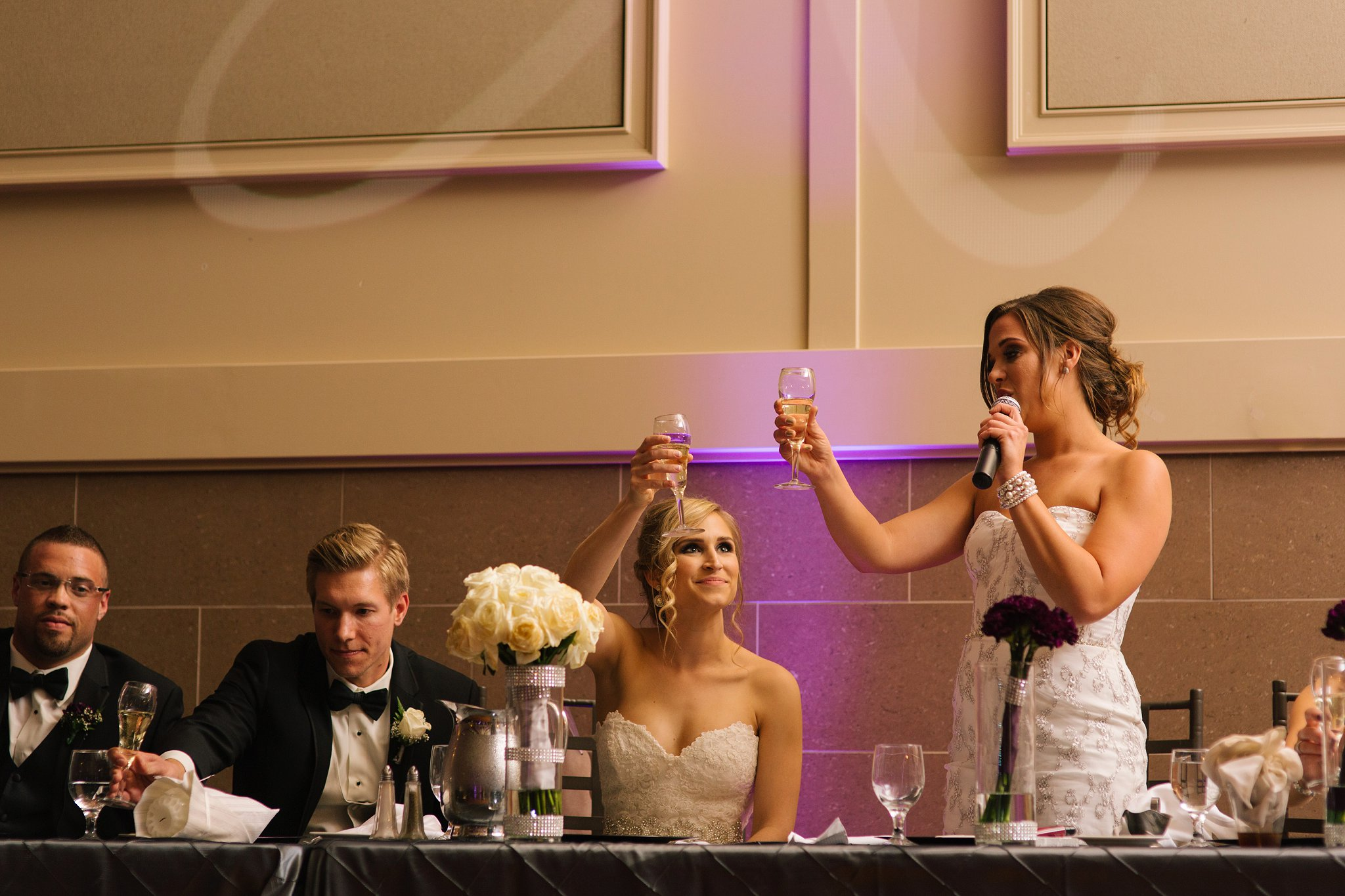 toasts at reception at Noah's Event Center in Chandler AZ