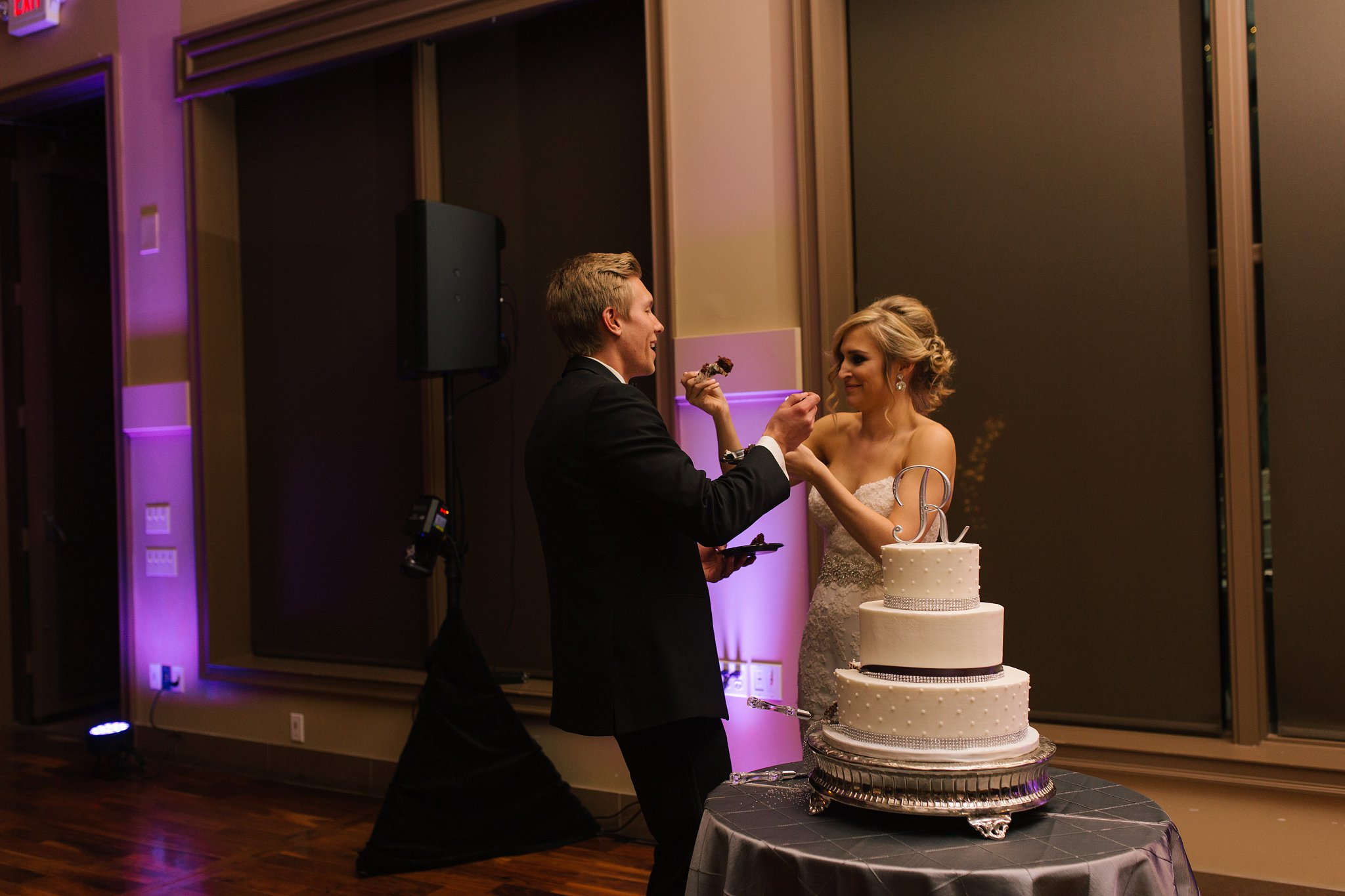 cake cutting at Noah's Chandler Event Center