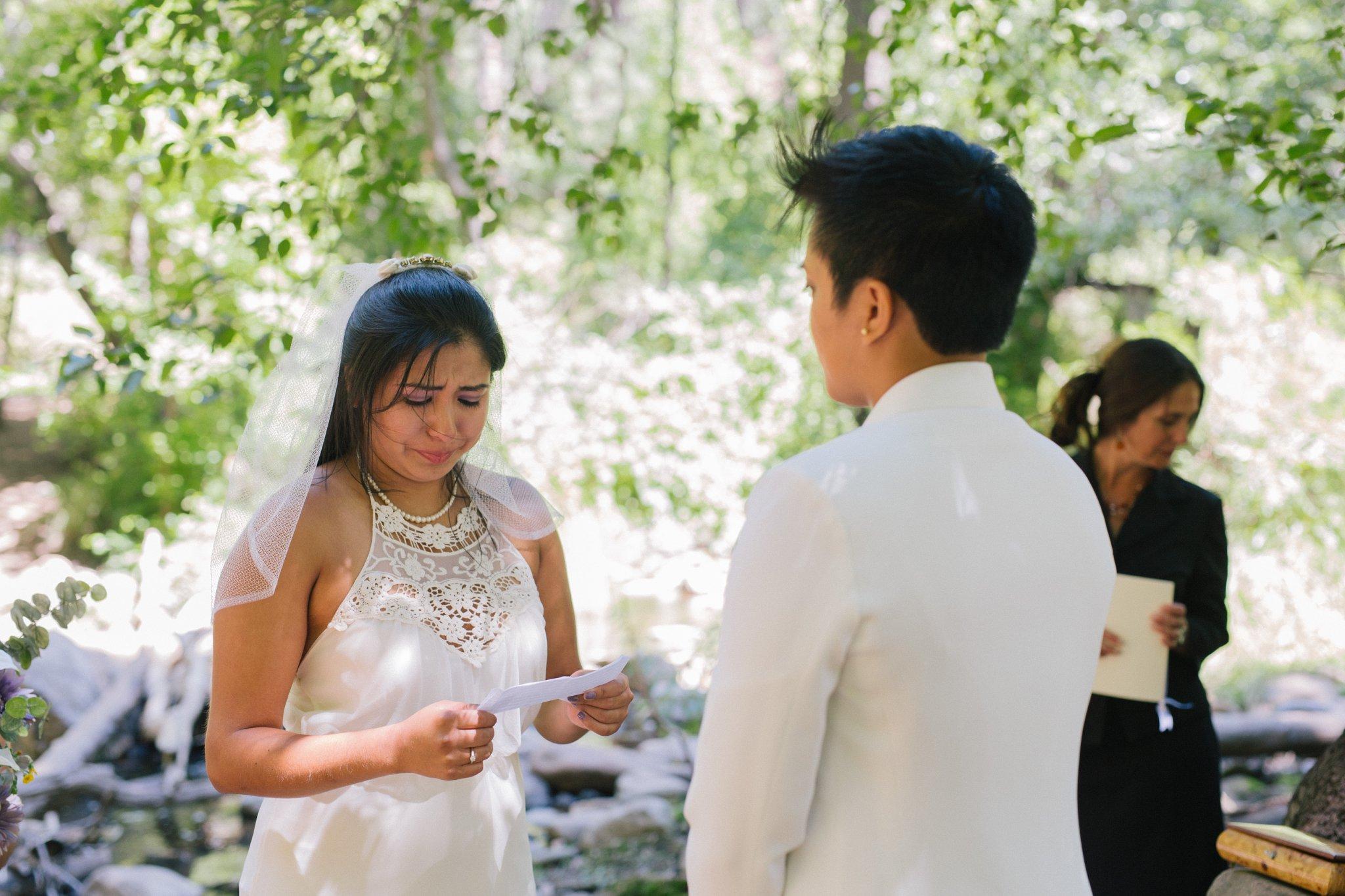 two brides Sedona elopement ceremony