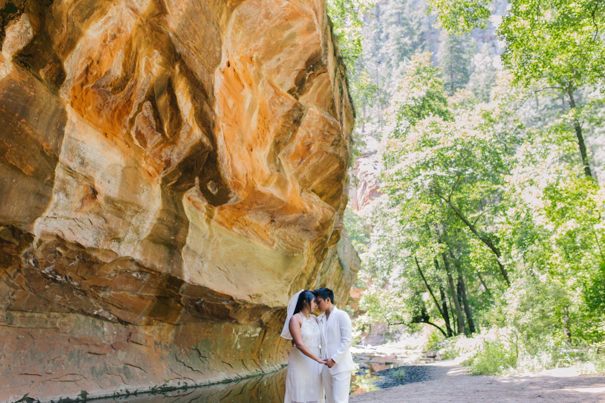 natural genuine candid LGBT friendly Sedona elopement photographer