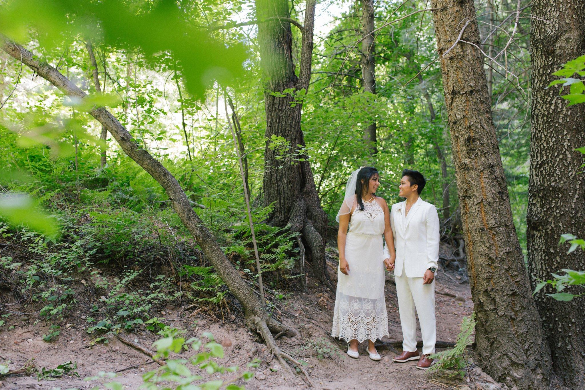 LGBT gay Sedona elopement wedding photos