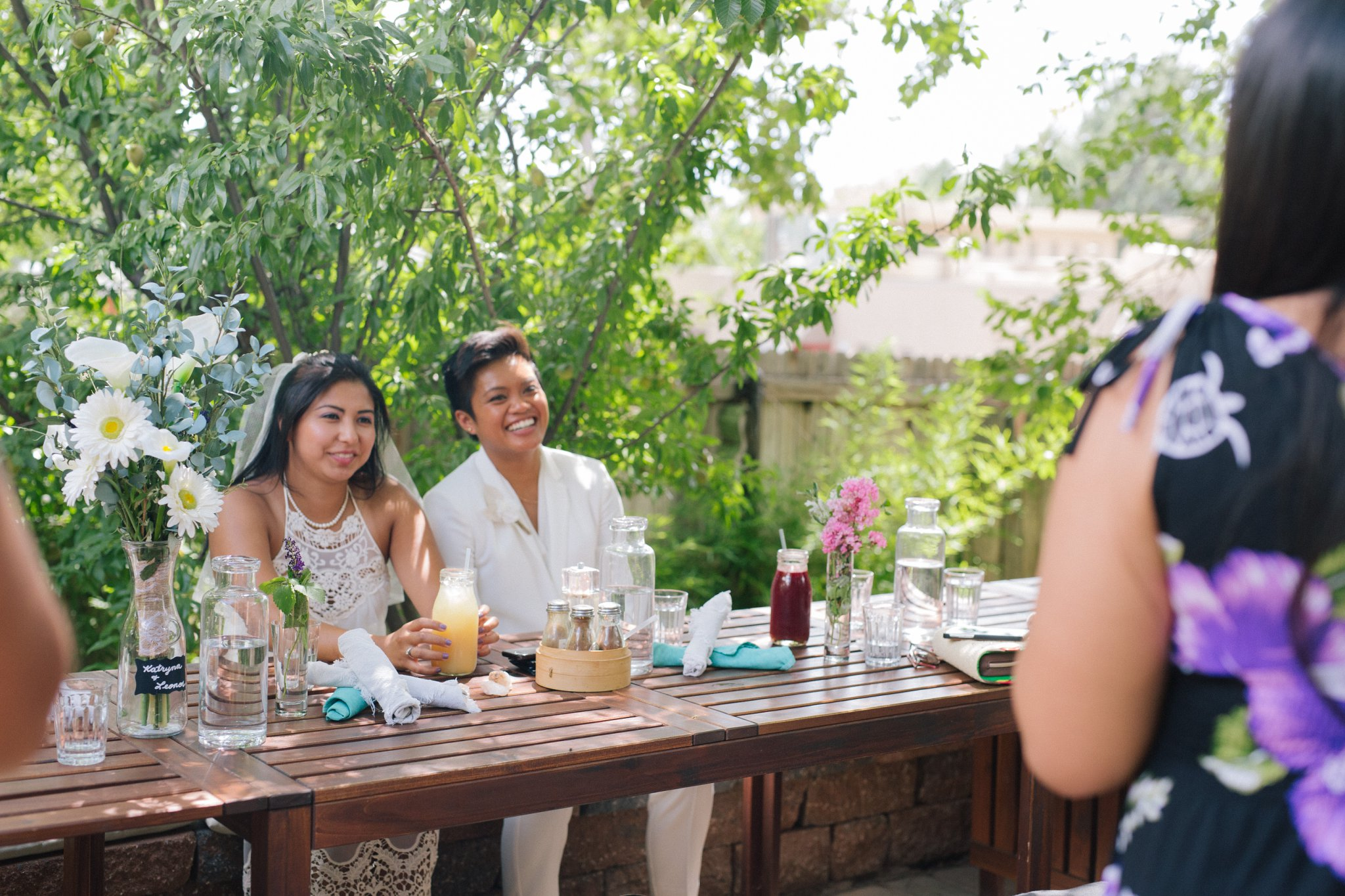 two brides elopement reception at Chocola Tree Sedona