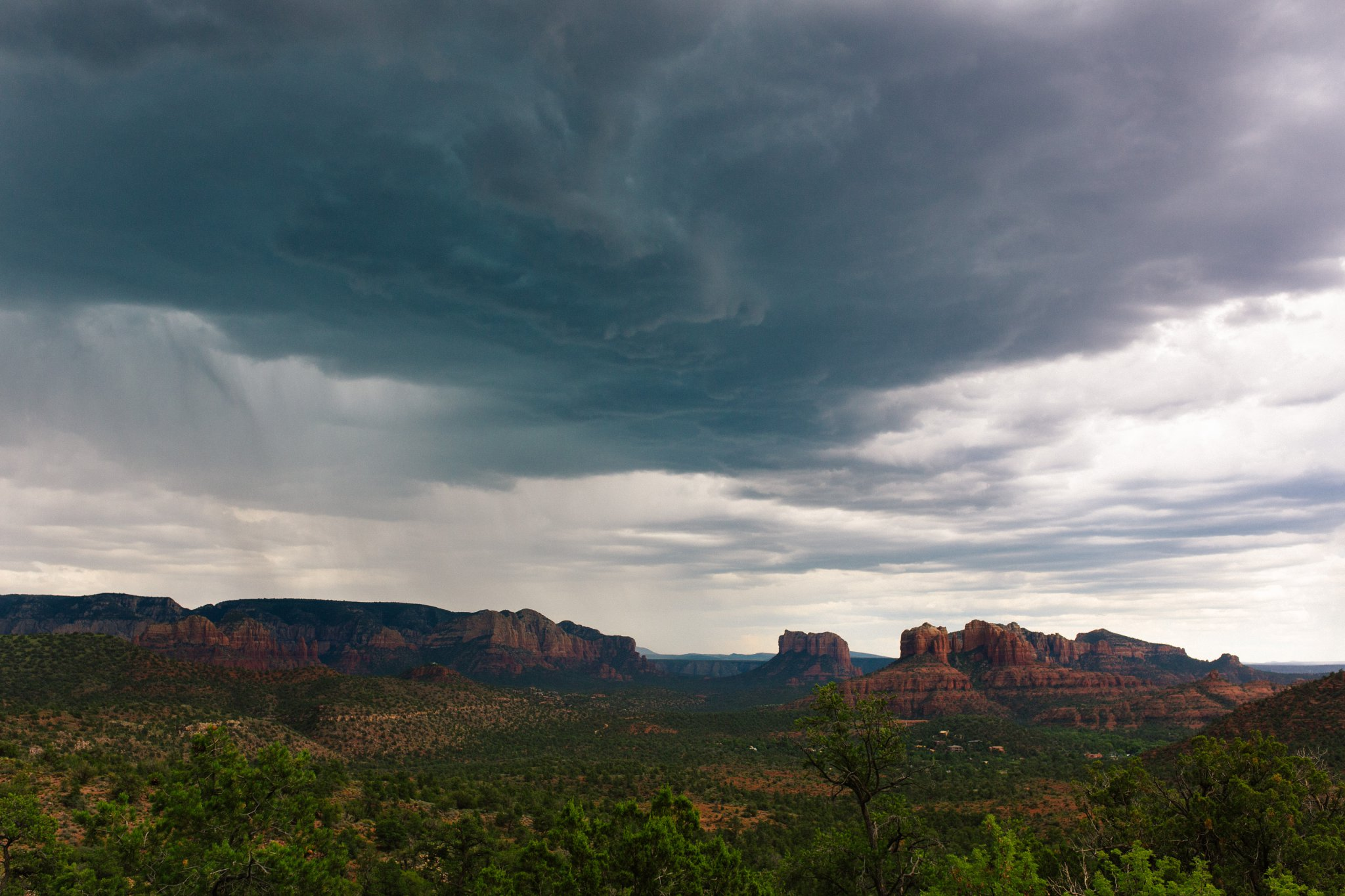 stormy Sedona red rocks at Lovers' Knoll