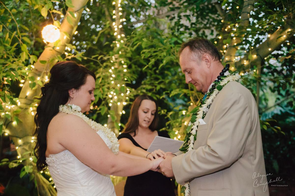 hand fasting ceremony at Boojum Tree elopement