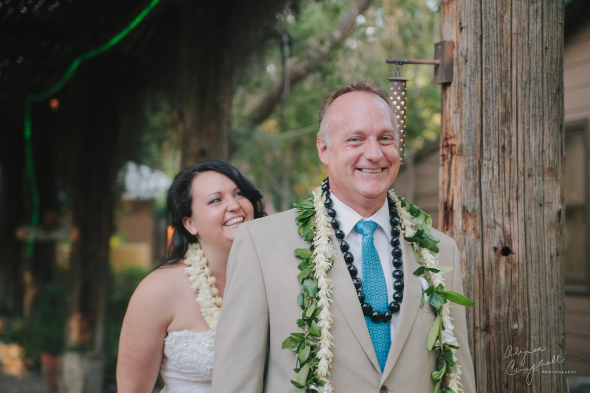 first look at Boojum Tree Phoenix Hawaiian elopement