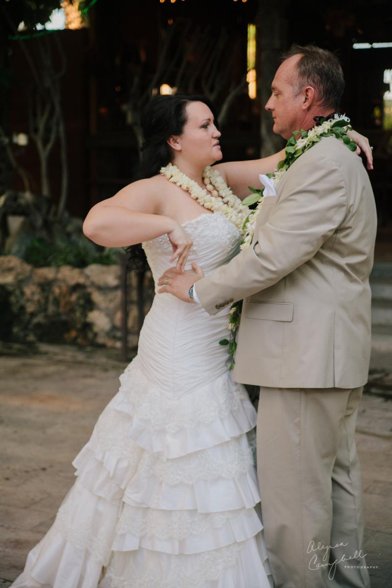 bride and groom dancing at Boojum Tree