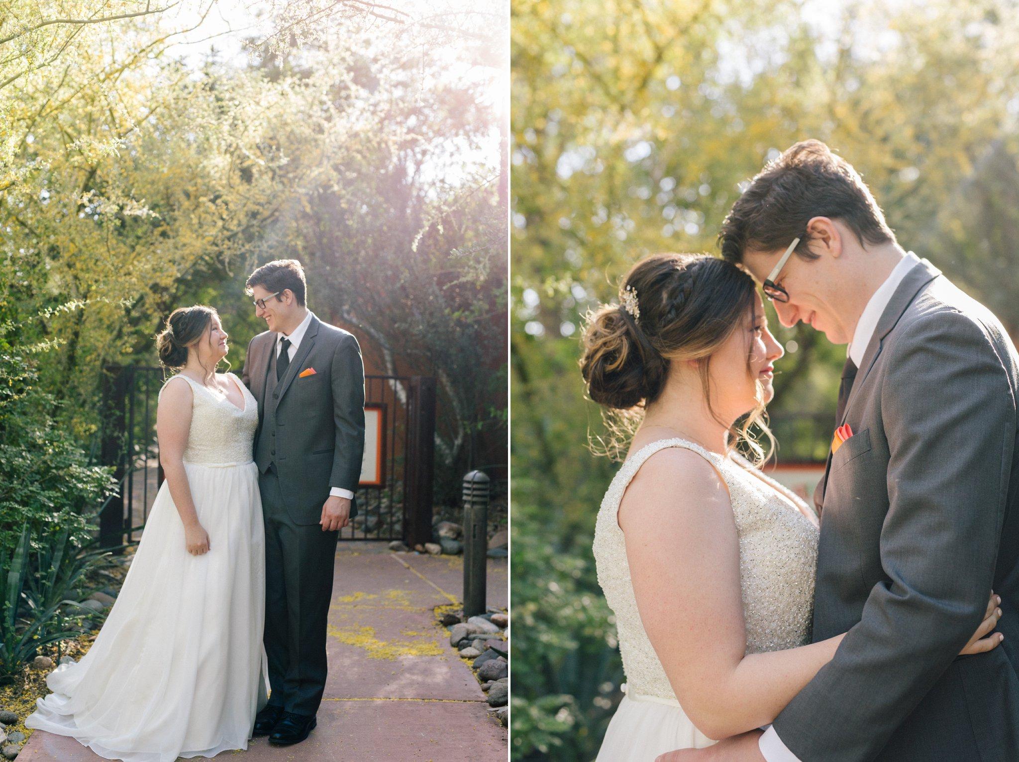 bride & groom Phoenix Zoo Wedding