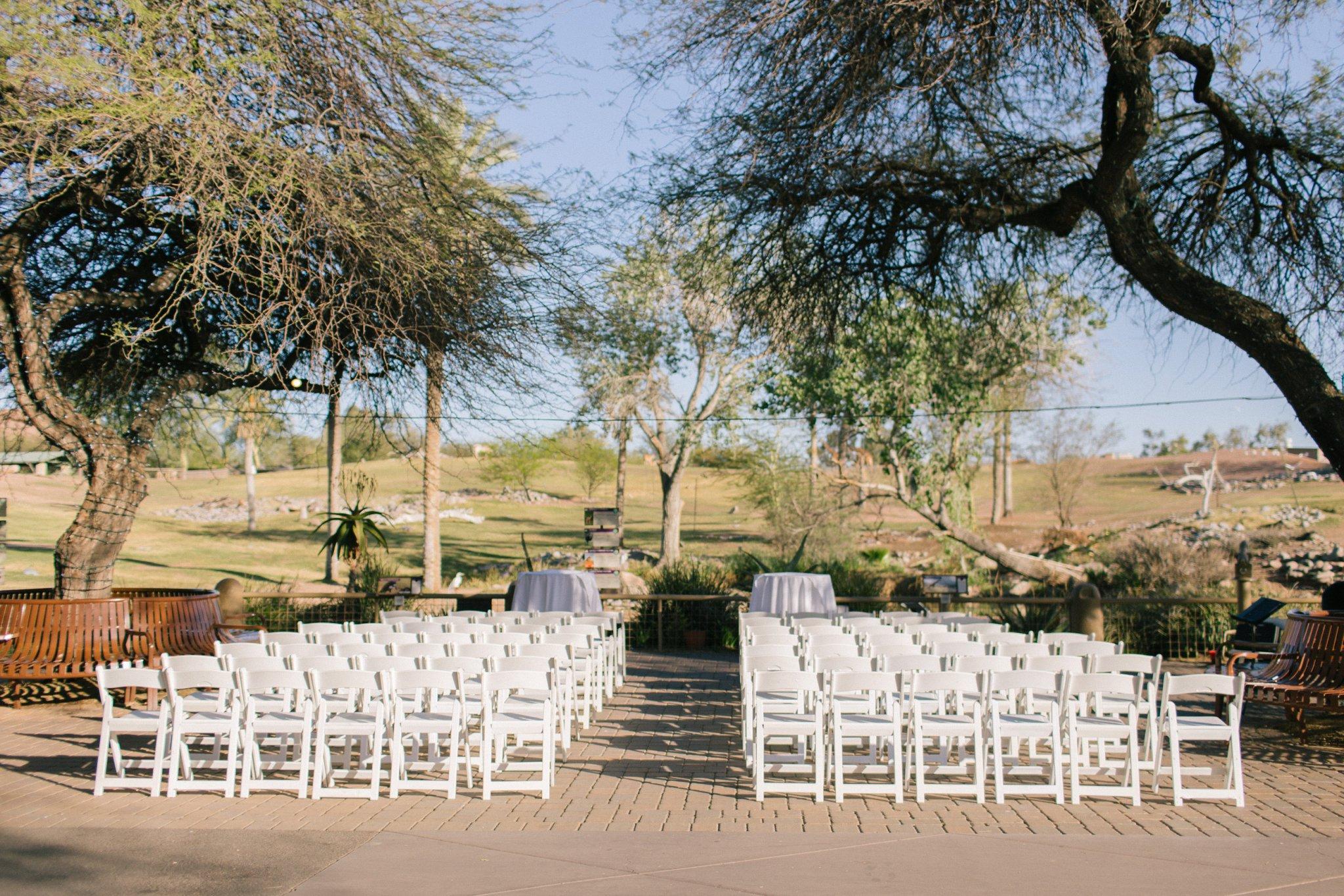 Phoenix Zoo wedding Savanna ceremony location