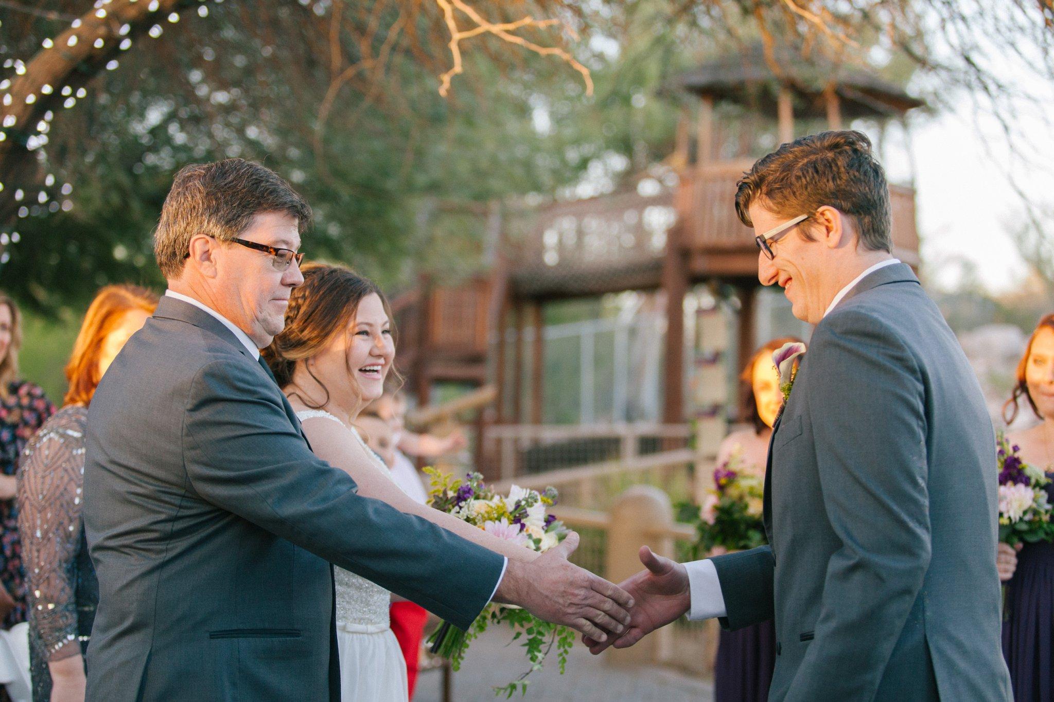 Phoenix Zoo wedding ceremony
