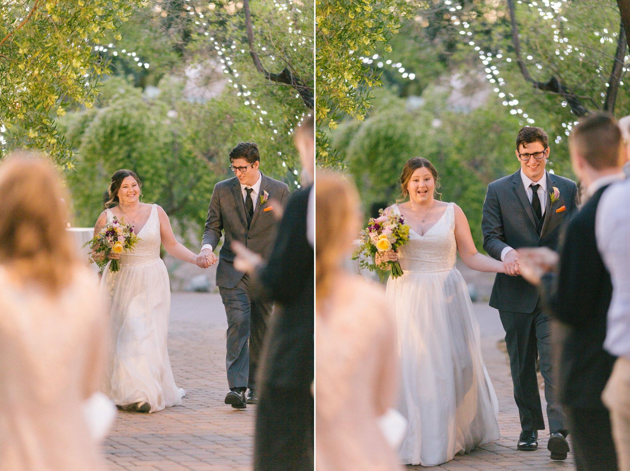 bride & groom entrance at Phoenix Zoo wedding