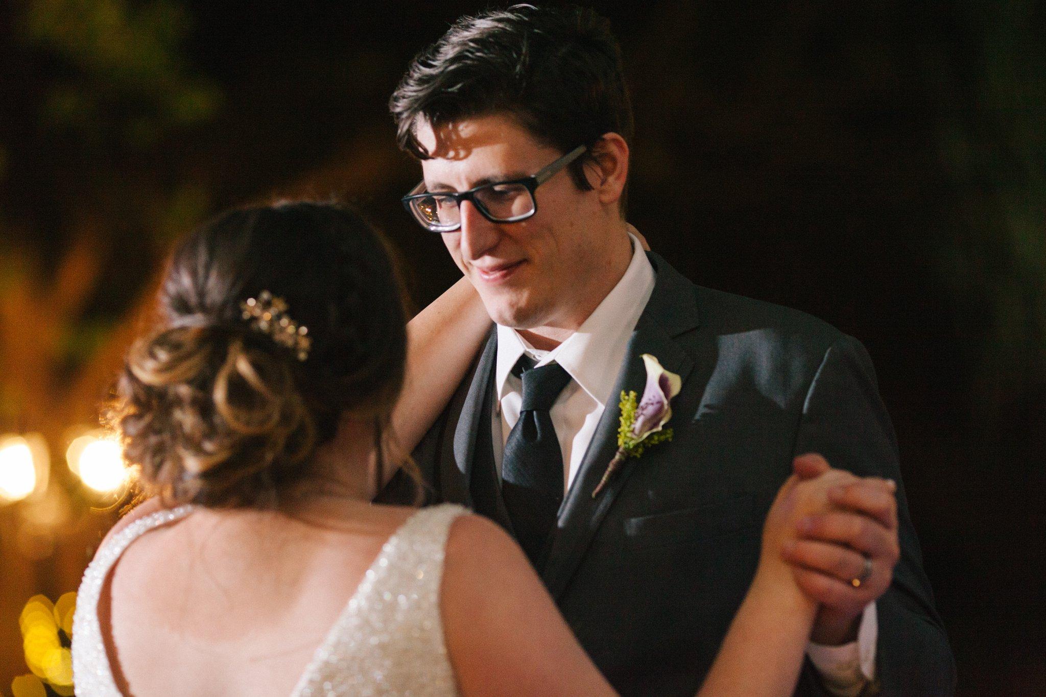 bride & groom first dance at Phoenix Zoo wedding