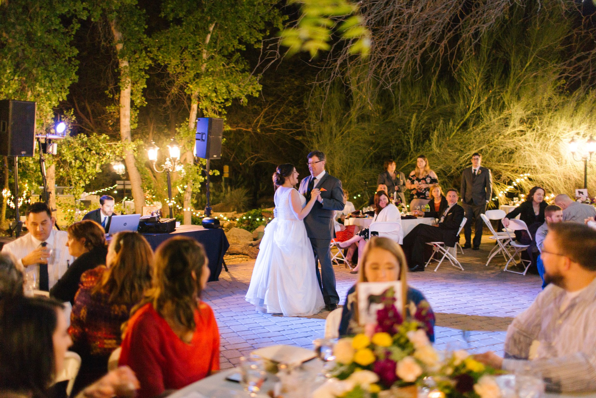 father daughter first dance at Phoenix Zoo wedding