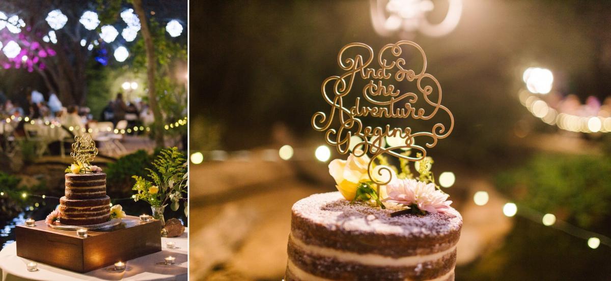 naked wedding cake at Phoenix Zoo wedding
