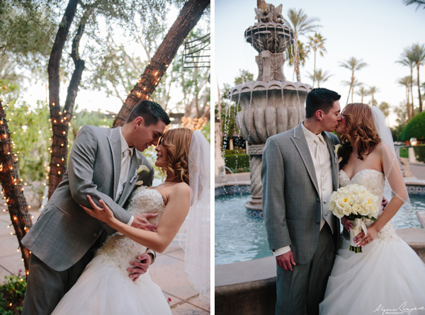 bride and groom just married at Scottsdale Resort & conference