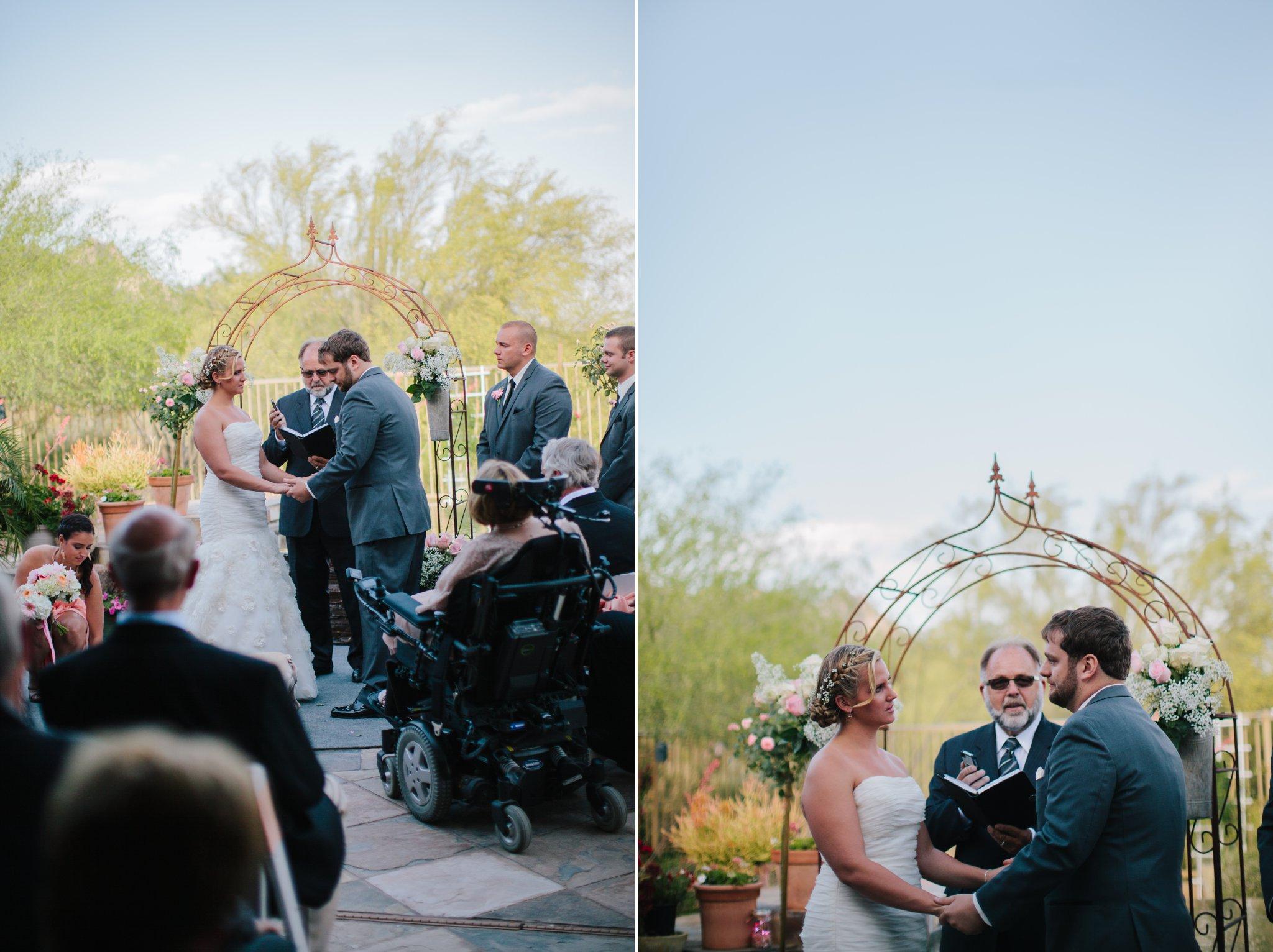 Mesa backyard wedding ceremony