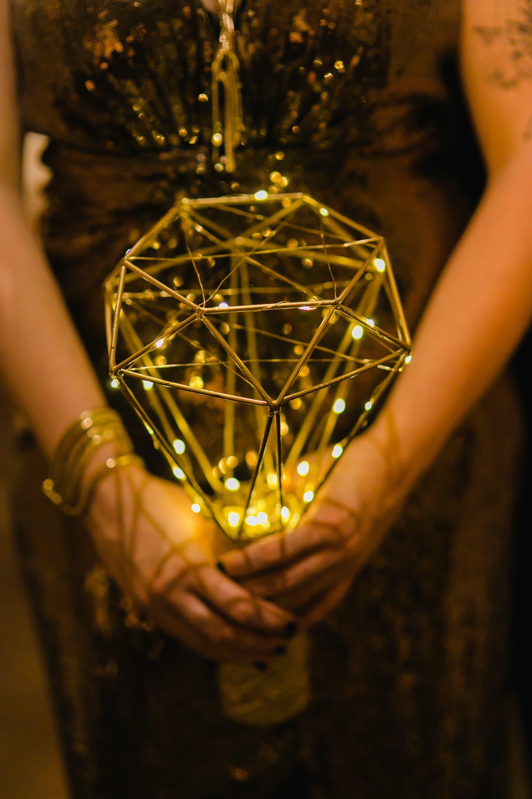 non-floral bouquet ideas wire light up bouquet