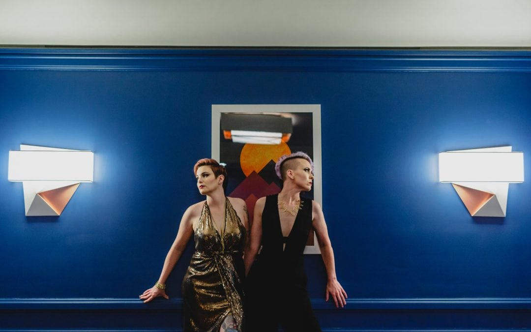 Neon Demon Inspired Non-Traditional Wedding Styled Shoot
