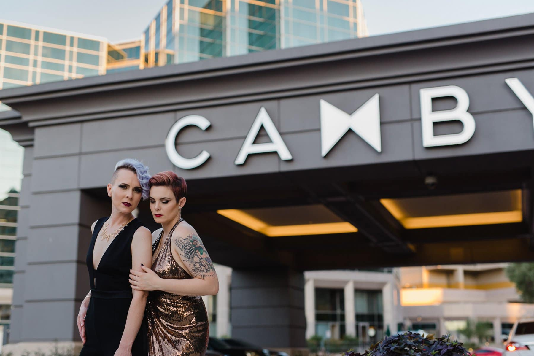 fashion inspired downtown Phoenix wedding photographer
