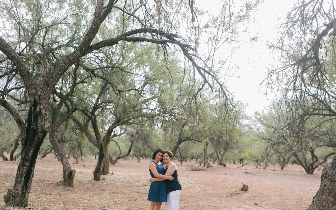 Same Sex Engagement Session at the Salt River | Kishia & Jen