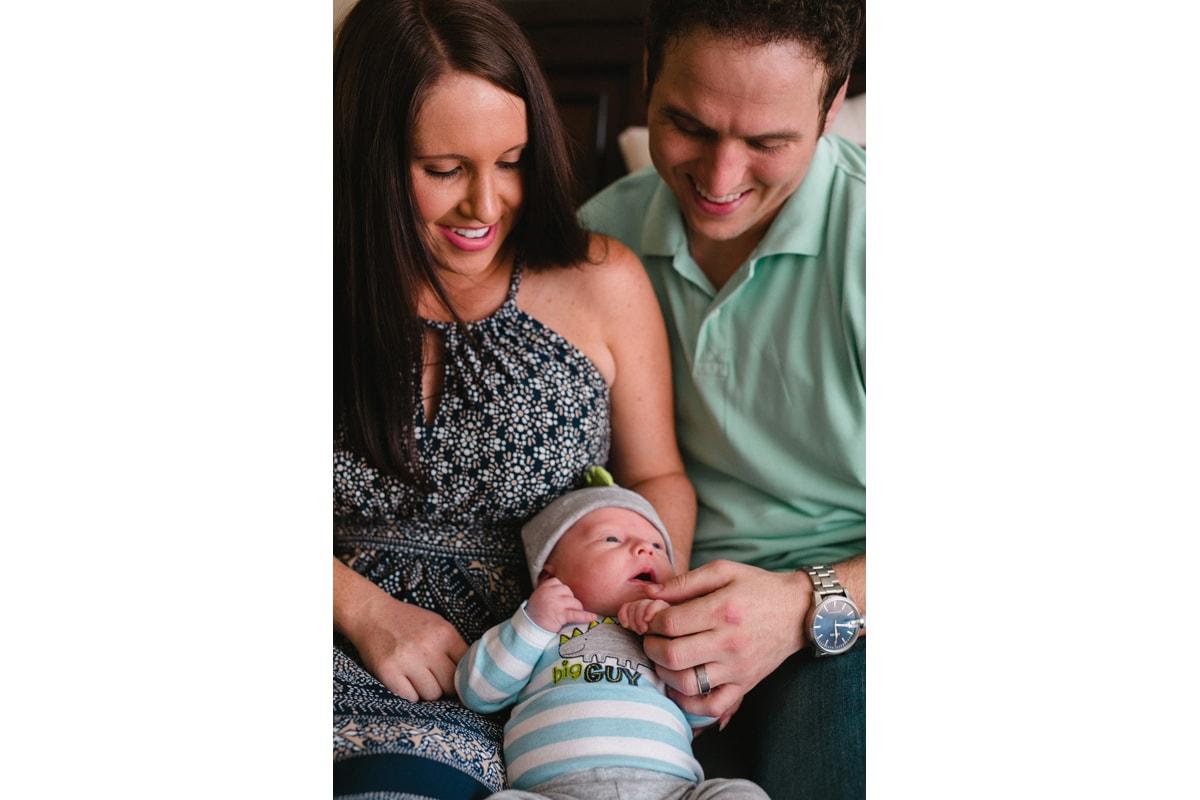 in home lifestyle newborn session Phoenix
