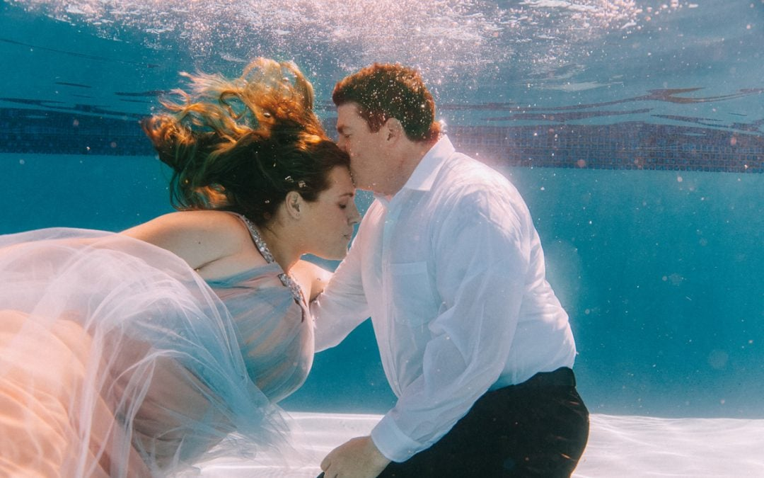 Unique Underwater Engagement Session in Arizona filmed by The List