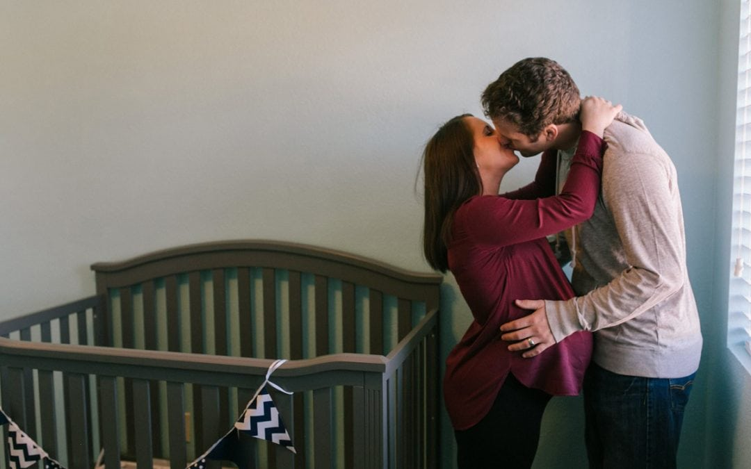 Alex & Jack's Chandler In Home Maternity Photos
