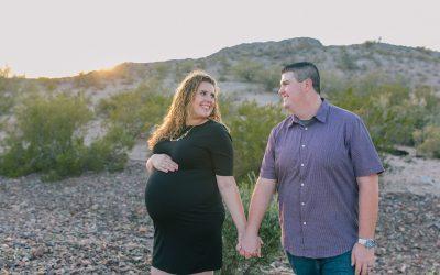 Rob & Rachel's Desert Glendale Maternity Session at Estrella Mountain