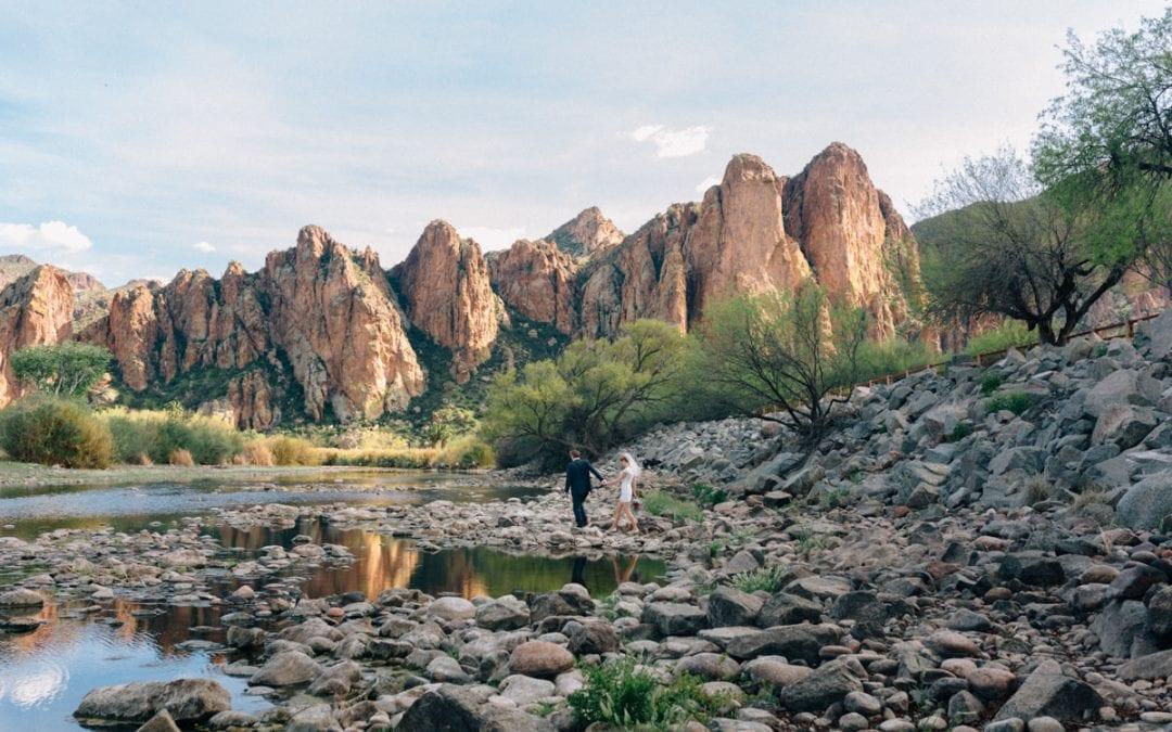 Mesa, Arizona Elopement at Saguaro Lake Ranch | Clayton & Vanessa