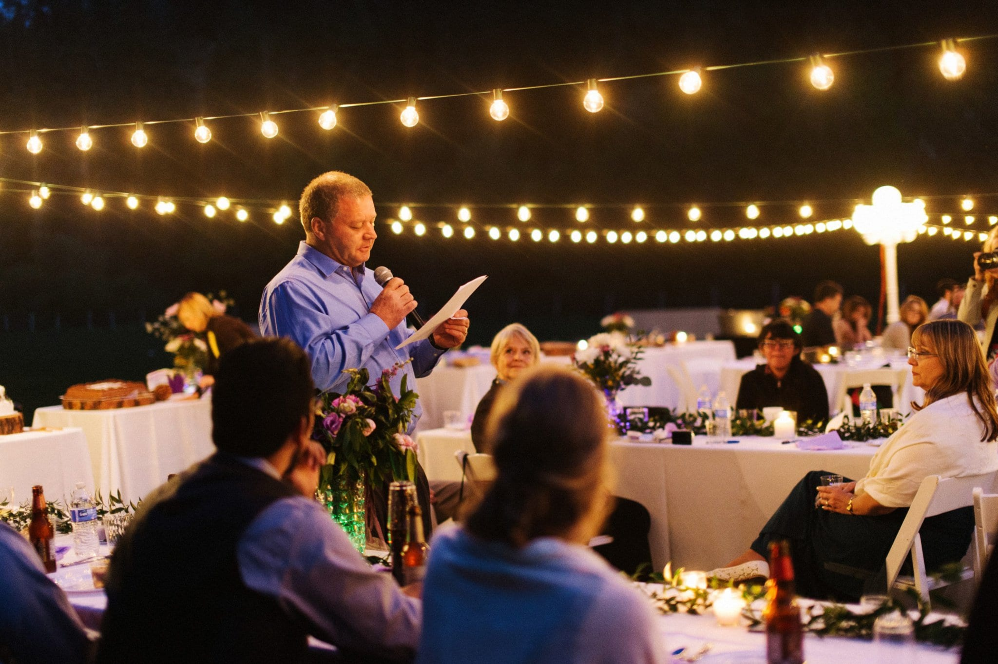 Tonto Creek Camp wedding reception outdoors