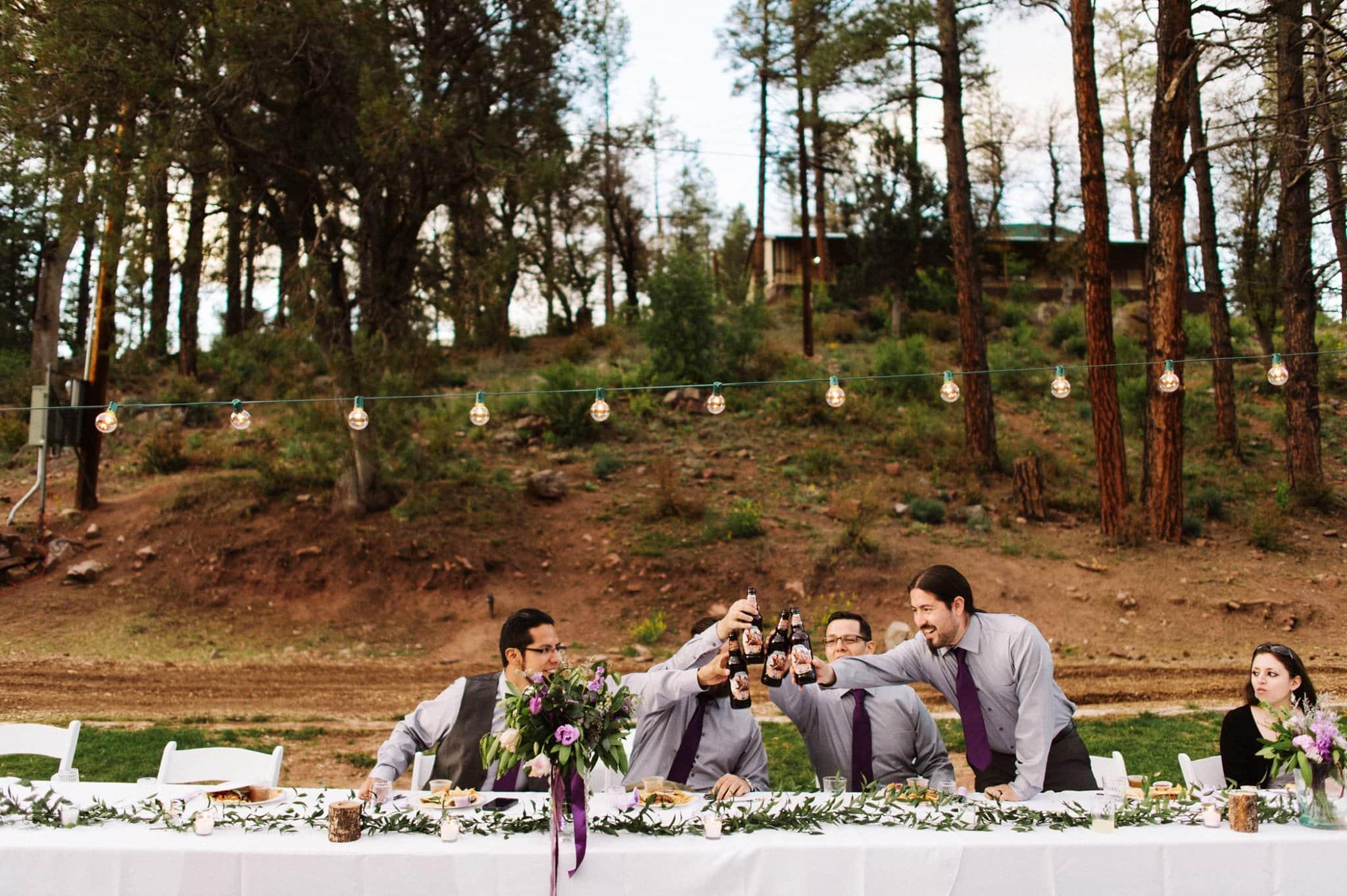 Tonto Camp Creek wedding reception by Heather Jowett