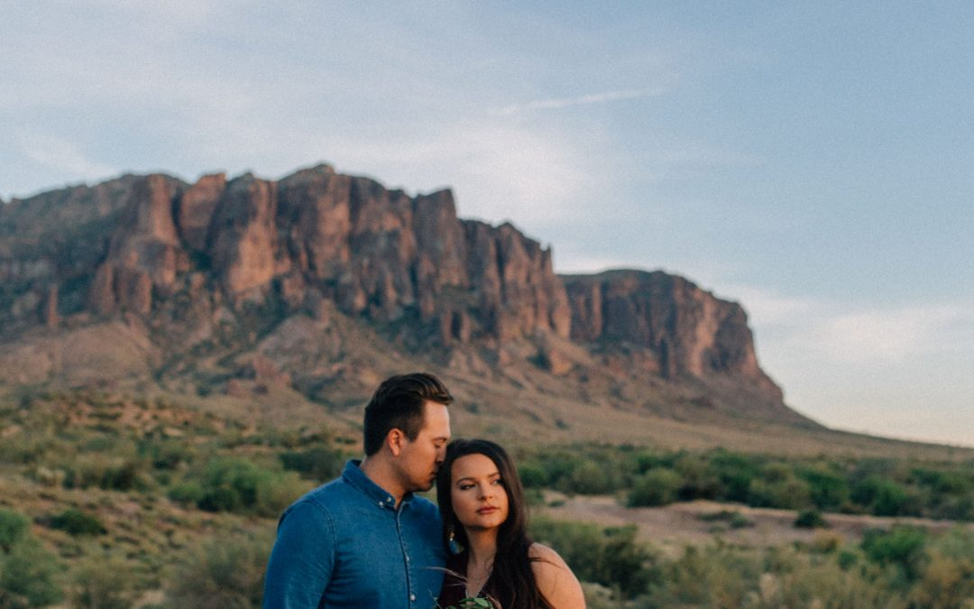 Superstition Mountains Alternative Elopement Styled Shoot