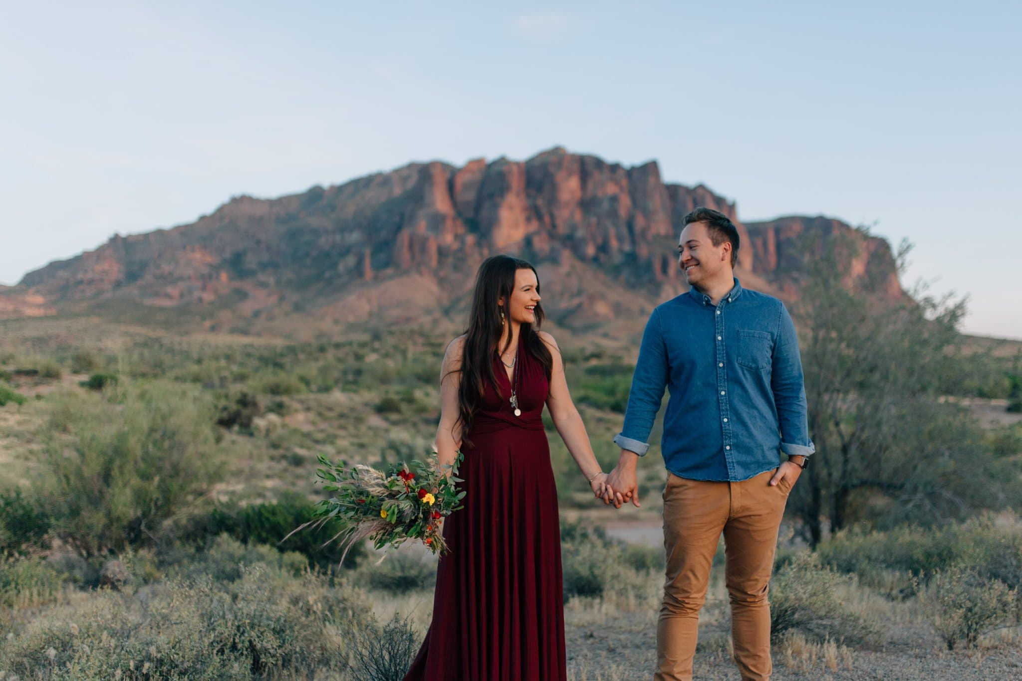 Superstition Mountains elopement Phoenix Arizona desert boho