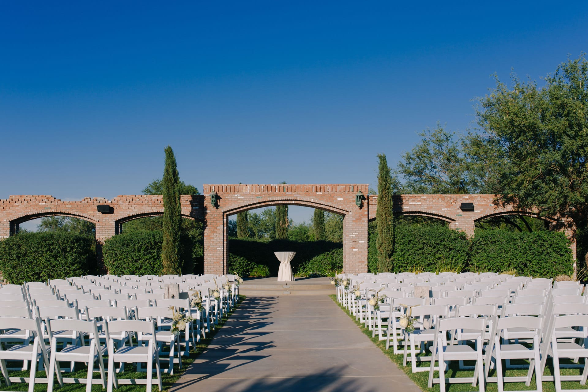 Windmill Winery arches wedding venue Arizona