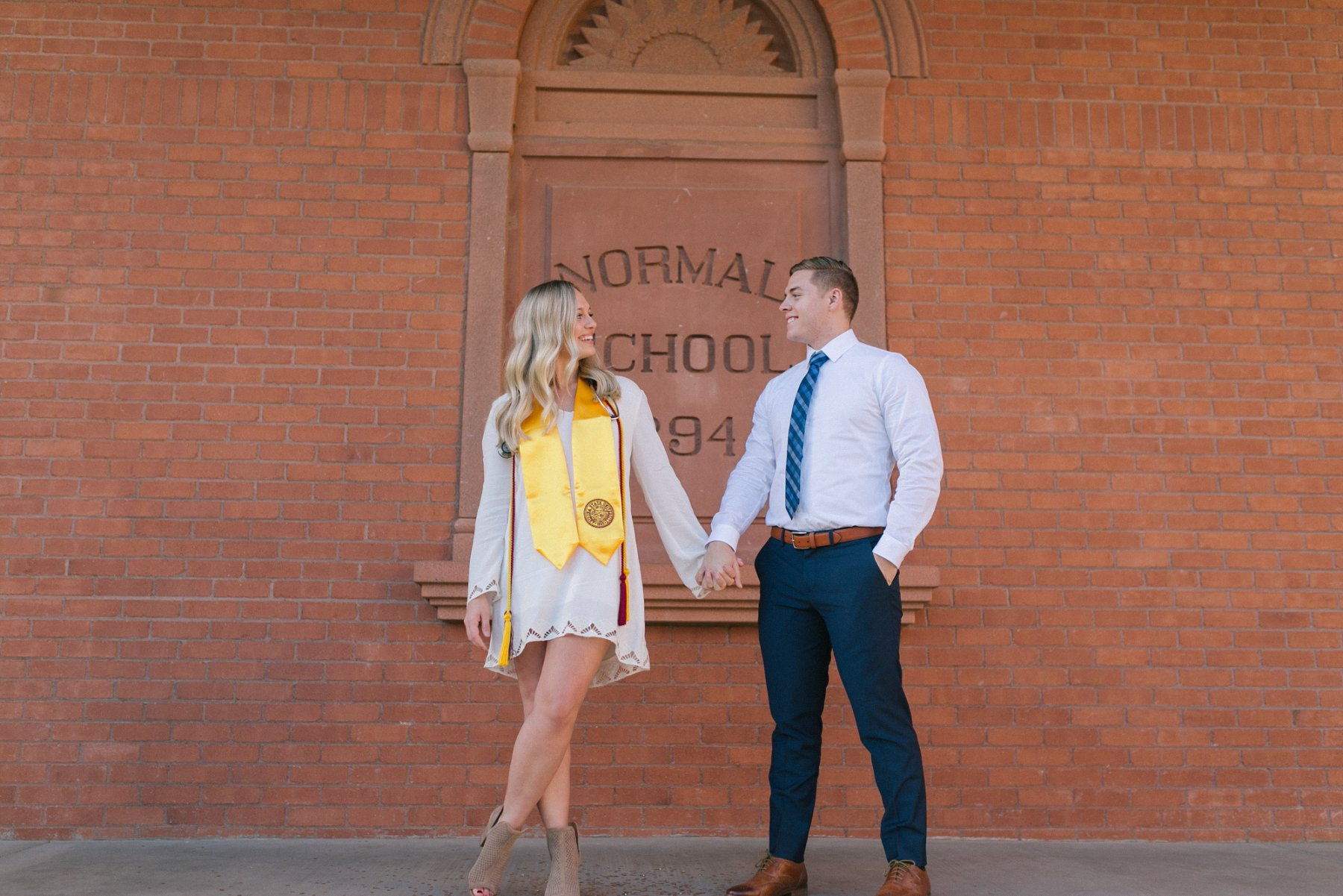 Old Main ASU couples engagement photos