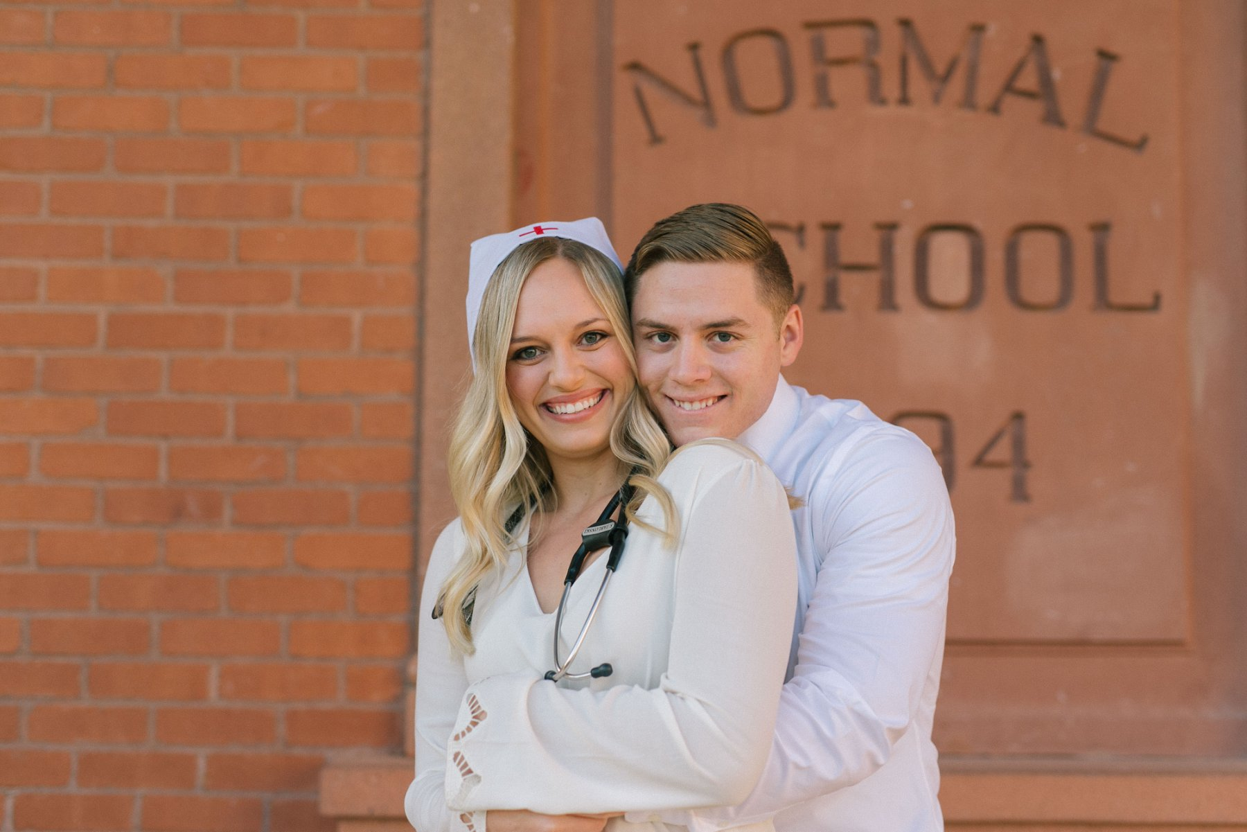 Old Main ASU Tempe nurse engagement photos
