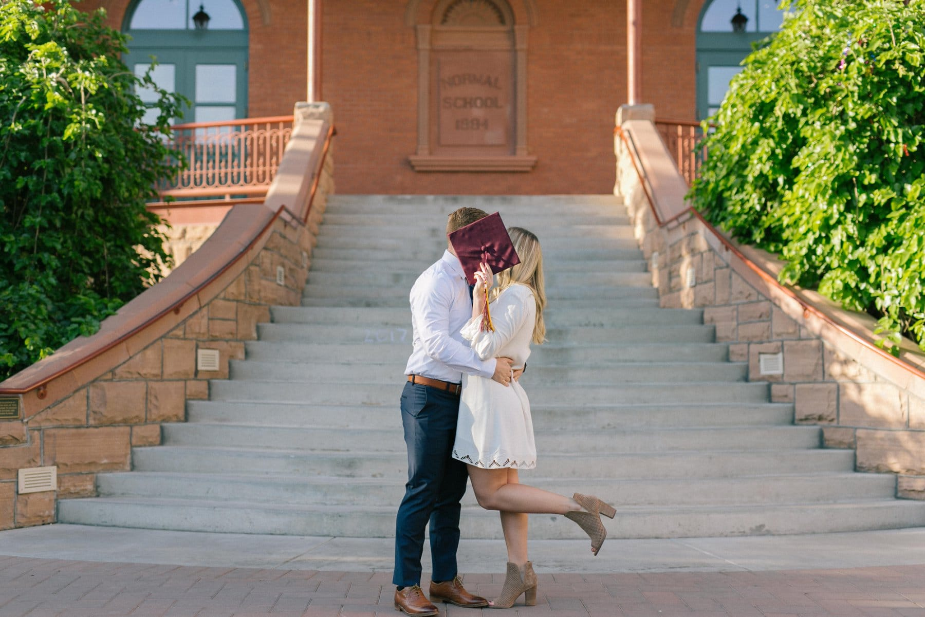ASU grad engagement photos