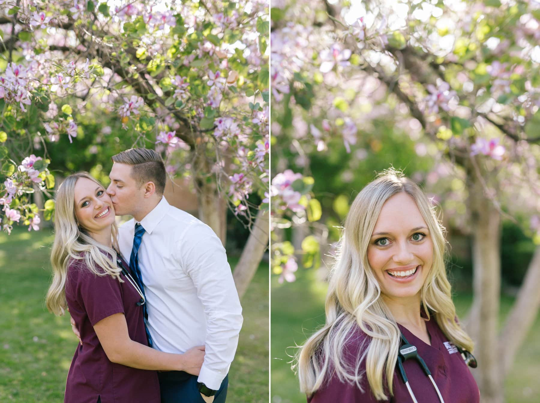 ASU nurse graduate engagement photos