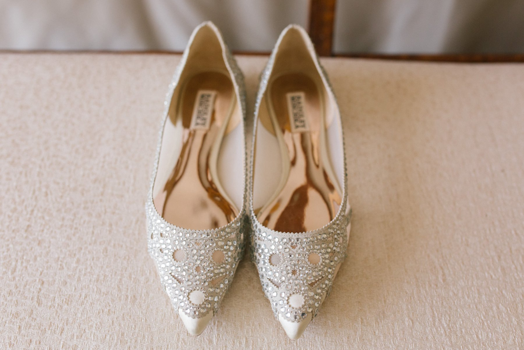 Badgley Mischka Gigi flats wedding shoes Arizona wedding