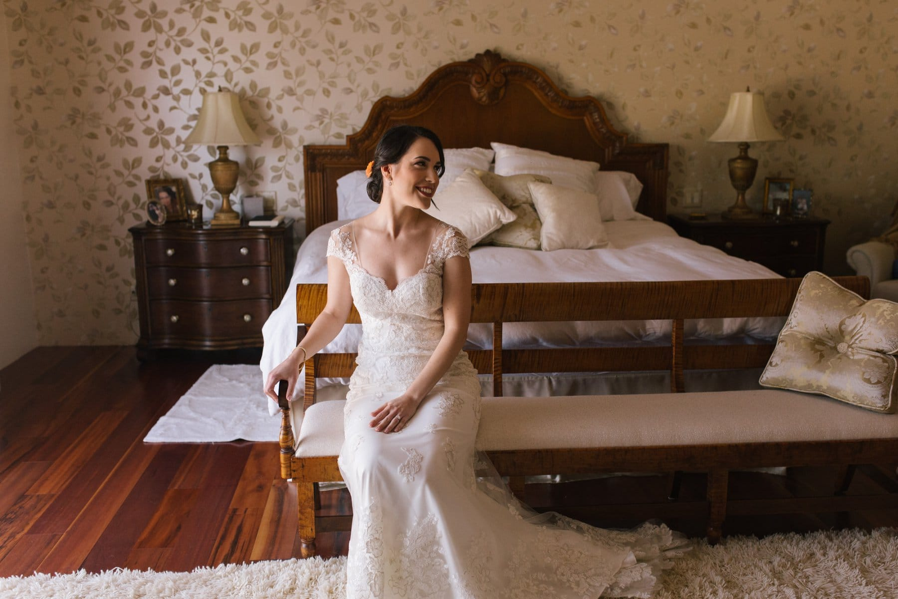 Scottsdale wedding photographer bride getting ready in beautiful home
