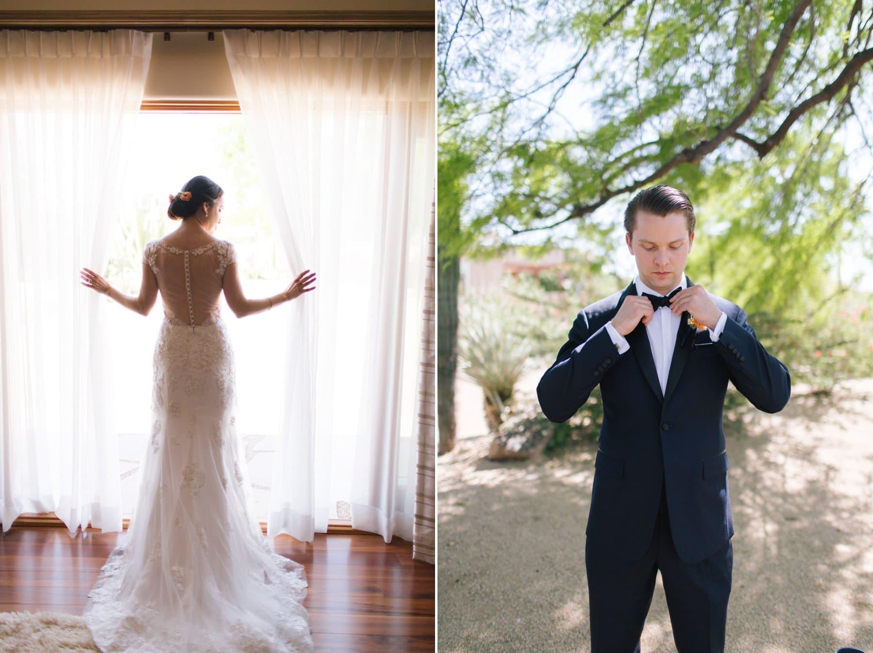 Scottsdale wedding photographer bride & groom getting ready